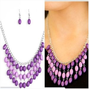 DELHI DIVA PURPLE NECKLACE/EARRING SET